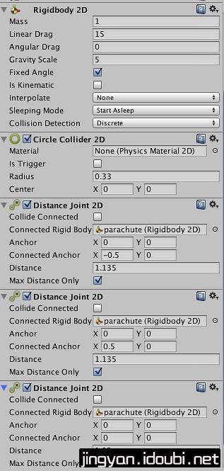 使用Unity模拟降落伞效果 - 第3张  | 逗分享开发经验